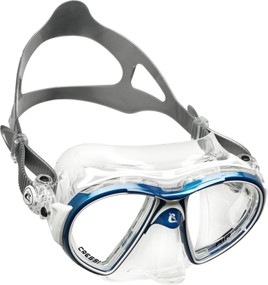 CRESSI AIR MASK SIL CRYSTAL/FRAME BLUE WHITE