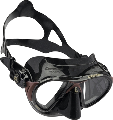 CRESSI NANO MASK SIL BLACK/FRAME BROWN