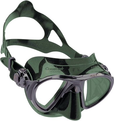 CRESSI NANO MASK SIL GREEN/FRAME BLACK