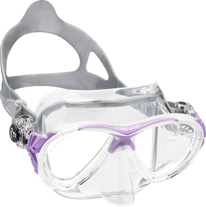 CRESSI EYES EVOLUTION MASK SIL CRYSTAL/FRAME LILAC