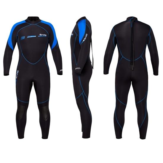 Bare Sport S-Flex 3/2mm Man obleka modra