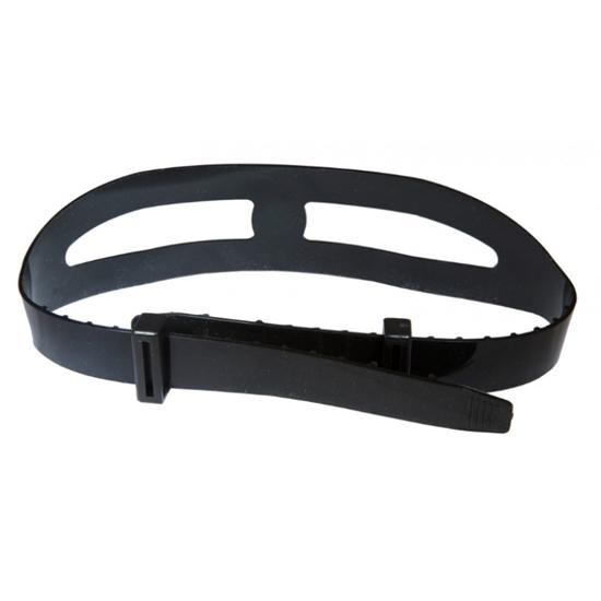 Omer silikonski trak za masko s sponkami črn