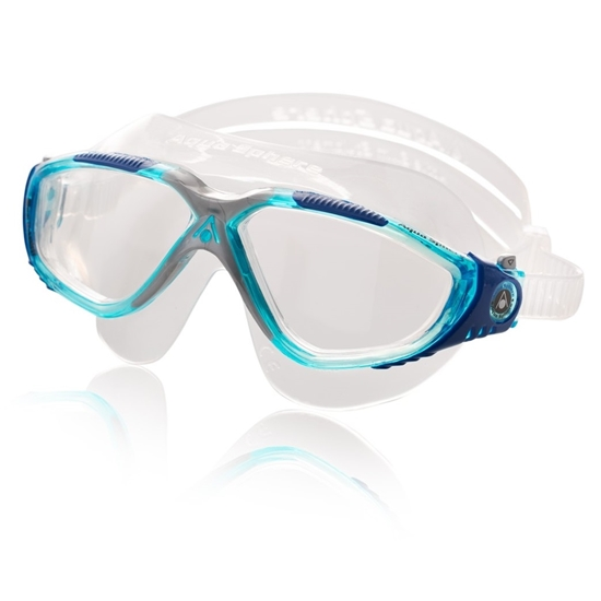 Aquasphere Vista plavalna maska prozoren silikon azurno-moder okvir