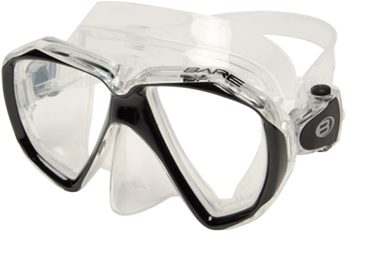Bare Duo C maska prozoren silikon črn okvir