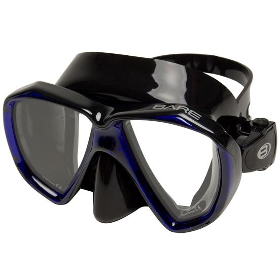 Bare Duo B maska črn silikon moder okvir