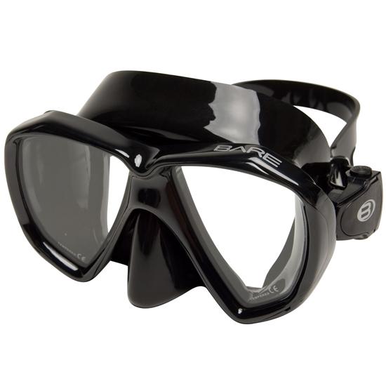 Bare Duo B maska črn silikon črn okvir
