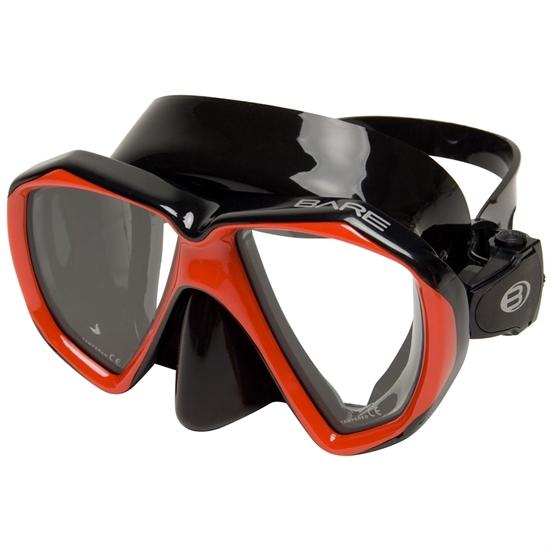 Bare Duo B maska črn silikon rdeč okvir