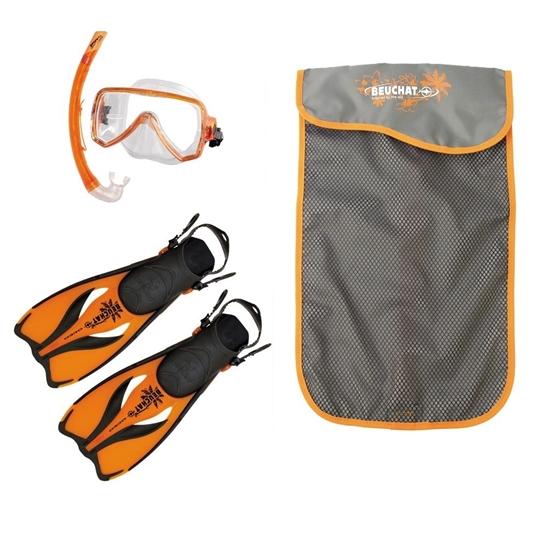 Beuchat Oceo ABC otroški set (maska, dihalka, plavuti) oranžna