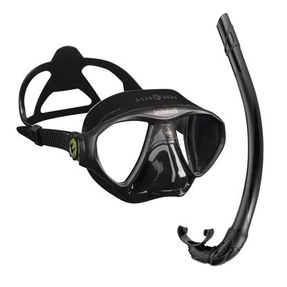 Picture of Aqualung Micromask maska črna + Cressi Corsica dihalka črna