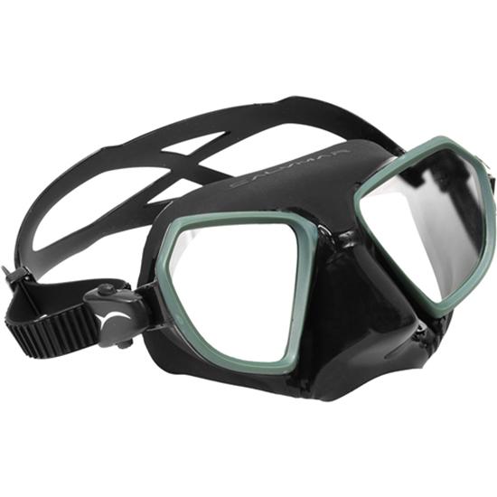 Salvimar Noah maska črn silikon, zelena