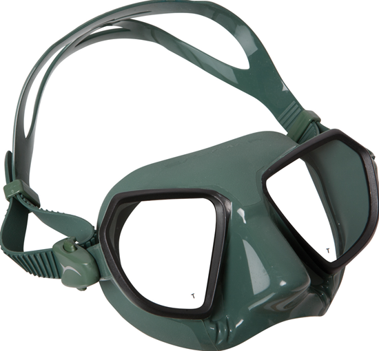 Salvimar Noah maska zelen silikon, črna