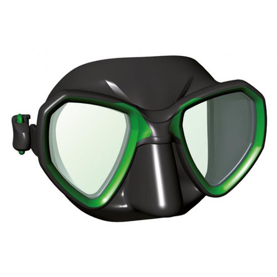 Salvimar Riva maska črn silikon, zelena