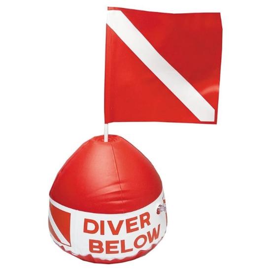 InWater Okrogla boja Diver Below fi32cm PVC