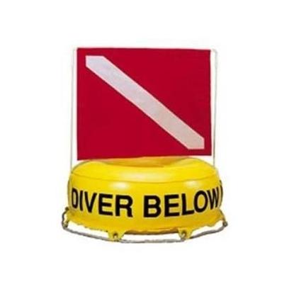 InWater Okrogla boja Diver Below PVC