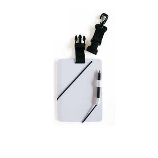 InWater Ploščica za pisanje pod vodo s sponko, pisalom in karabinom (15x12cm)
