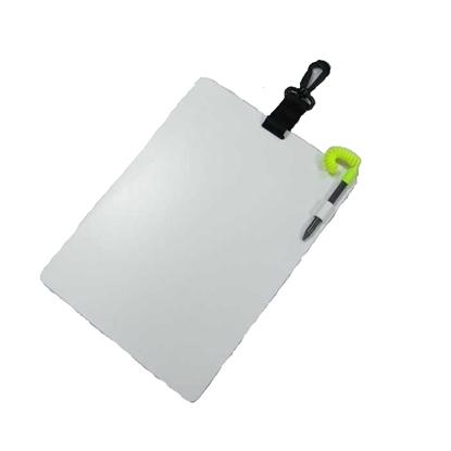 InWater Ploščica za pisanje pod vodo s sponko, pisalom in karabinom (20x28cm)