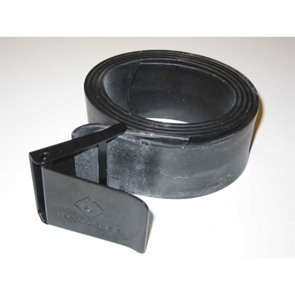 InWater Potapljaški pas DARK elastični s črno inox zaponko