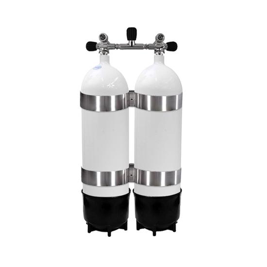 Picture of Faber Jeklenka dvojna 2x10L, ventil z izolatorjem, 2 PVC copata, inox obroči