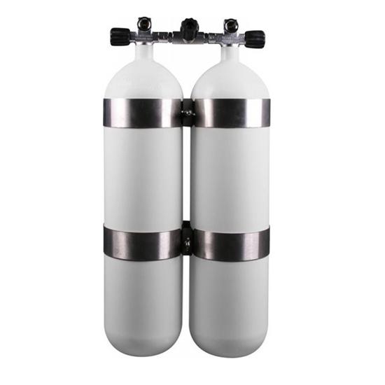 Picture of Faber Jeklenka dvojna 2x10L, ventil z izolatorjem, inox obroči