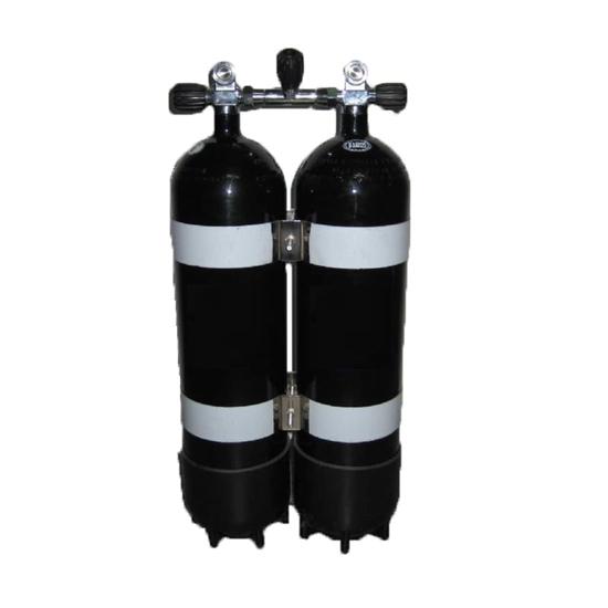 Picture of Faber Jeklenka dvojna 2x12L, ventil z izolatorjem, 2 PVC copata, inox obroči