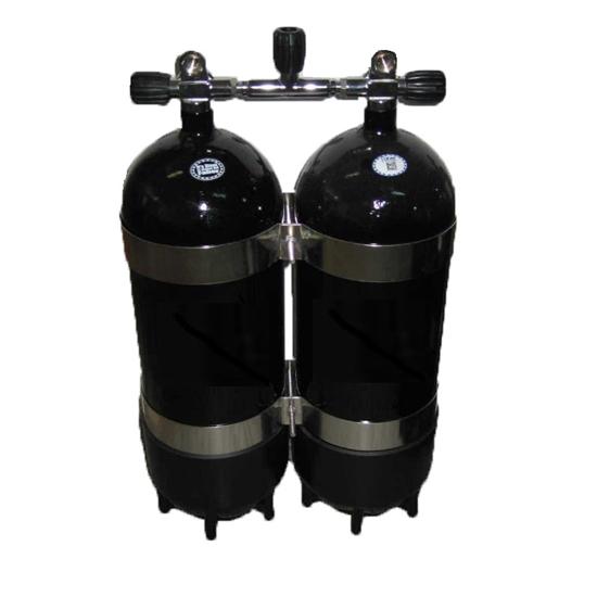 Picture of Faber Jeklenka dvojna 2x15L, ventil z izolatorjem, inox obroči