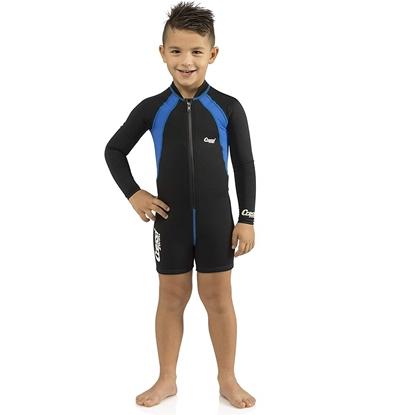Picture of Cressi Cressi Kids Shorty 1,5mm otroški shorty / dolg rokav črno/modra