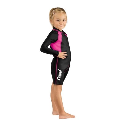 Picture of Cressi Cressi Kids Shorty 1,5mm otroški shorty / dolg rokav črno/roza