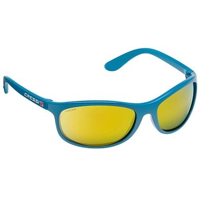 Cressi Rocker sončna očala akvamarin okvir / oranžne mirror leče