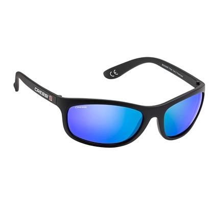 Cressi Rocker sončna očala črn okvir / modre mirror leče