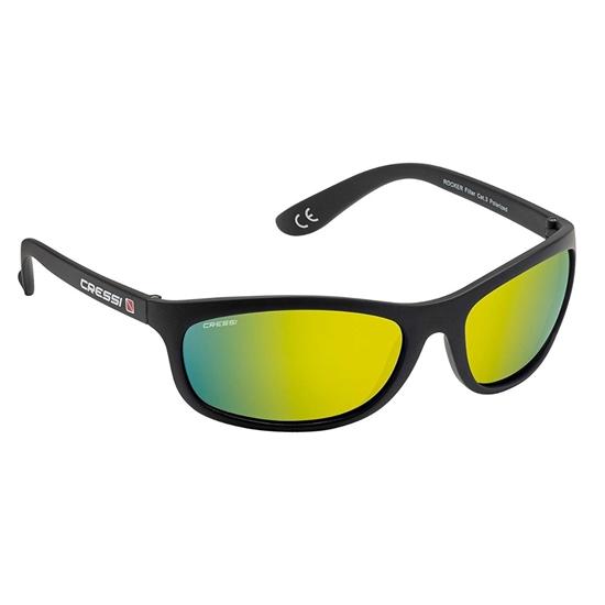 Cressi Rocker sončna očala črn okvir / oranžne mirror leče