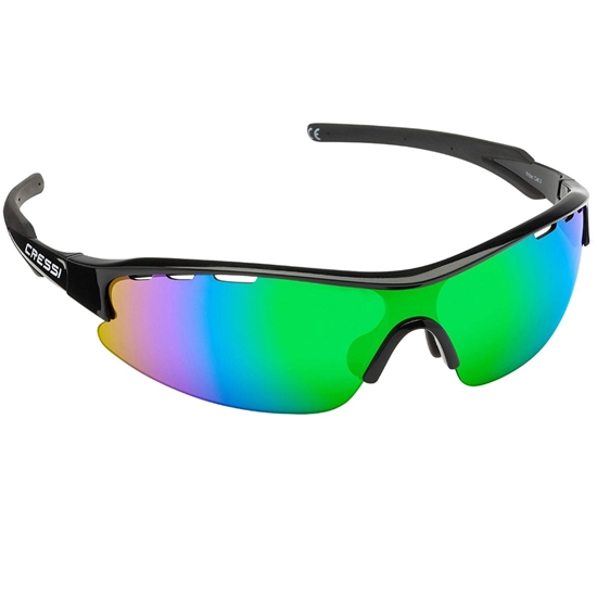 Cressi Vento sončna očala črn okvir / zelene leče