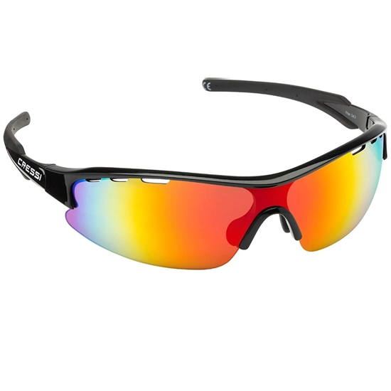 Cressi Vento sončna očala črn okvir / oranžne leče