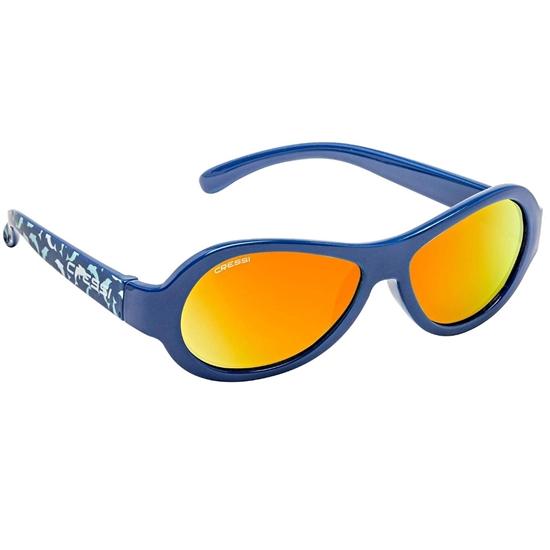 Cressi Scooby otroška sončna očala 3-5 let delfin oranžne mirror leče