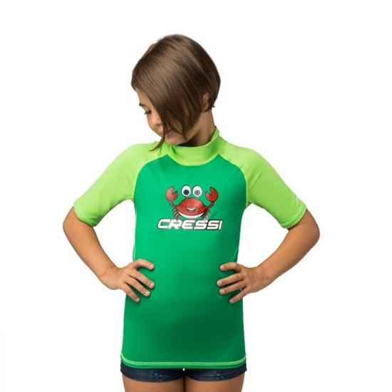 Cressi CRABBY junior rashguard  zelena