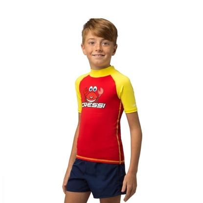 Cressi CRABBY junior rashguard  rdeča