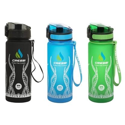 Cressi H2O Frosted plastična steklenica za vodo 600mL octopus