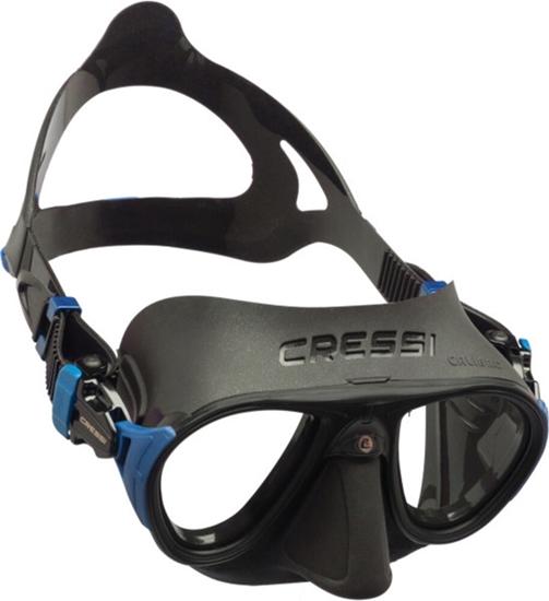 Cressi  CALIBRO + MASKA   črna/kovinsko modra
