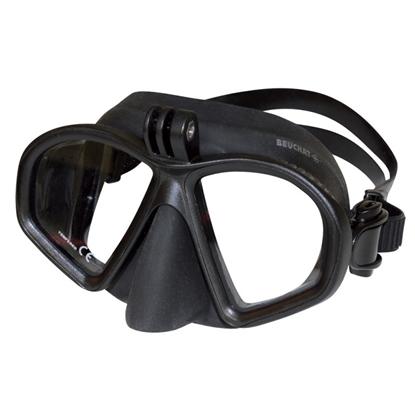 Beuchat GP1 maska z nastavkom za kamere    ČRNA