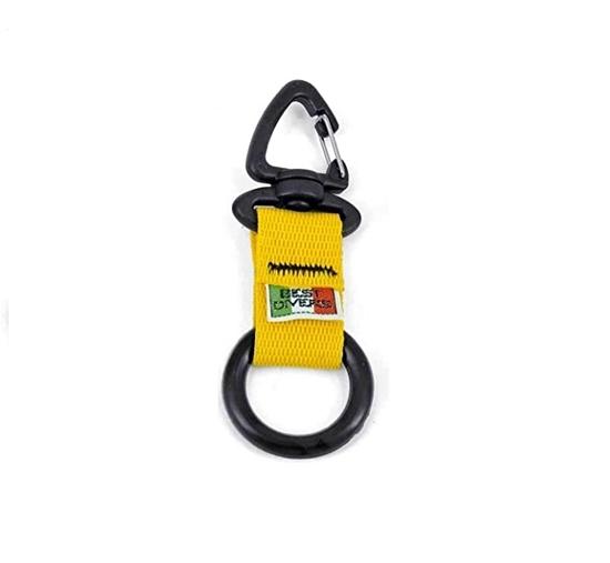 BestDivers karabin z gumi ringom črno-rumena