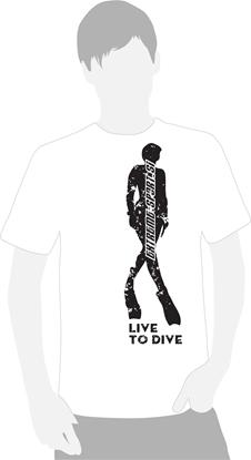 Majica na kratke rokave Live to Dive   bela