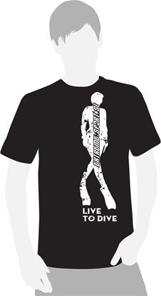 Majica na kratke rokave Live to Dive   črna