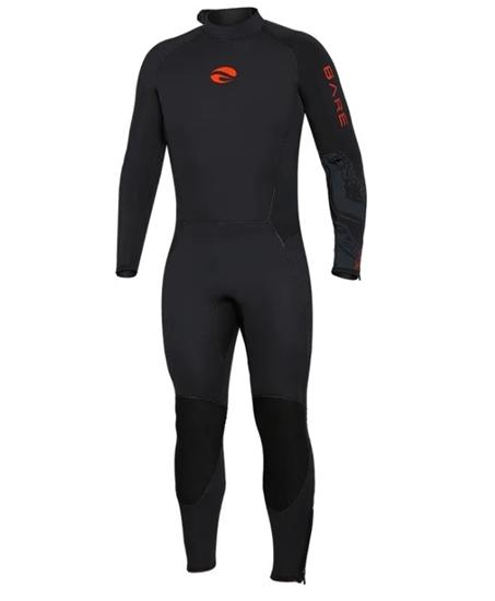 BARE Velocity Ultra moška enodelna obleka 3mm  rdeča
