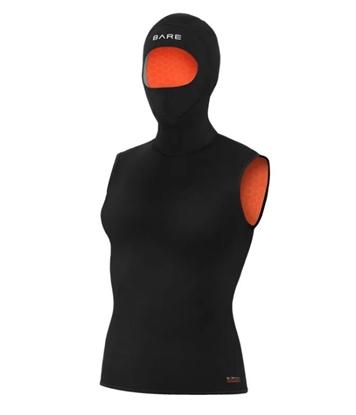 BARE Bare Ultrawarmth 7/3mm brezrokavnik s kapuco ženska 7/3mm