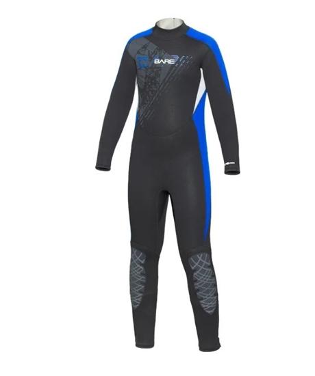 BARE Manta otroška enodelna obleka brez kapuce 3/2mm  modra