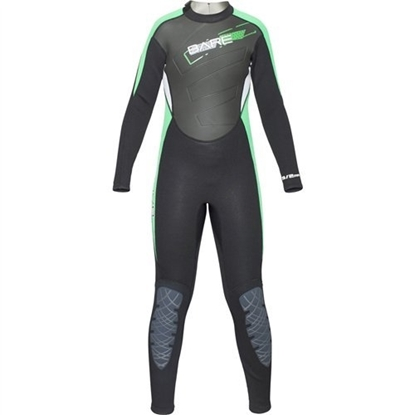 BARE Manta otroška enodelna obleka brez kapuce 3/2mm  zelena